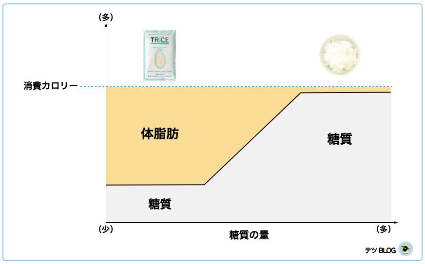 低糖質米と白米の体脂肪消費量の差